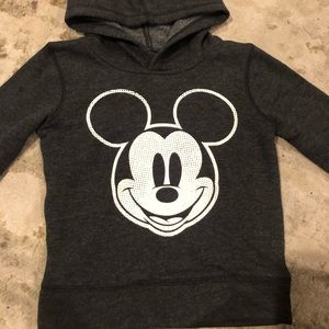 Mickey Mouse Disney 3T gray hoodie super soft